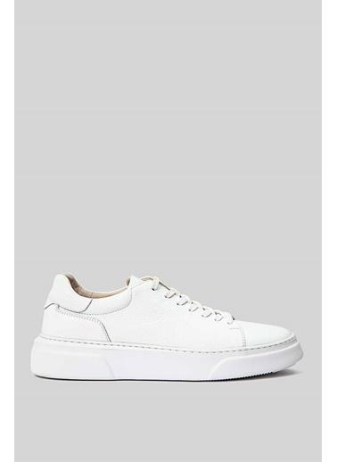 Lufian Tommy Deri Sneaker  Beyaz